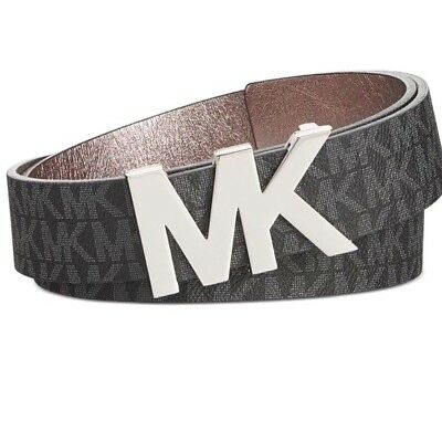 New Women's Michael Kors Belt  Black  and Silver MK SIZE M
