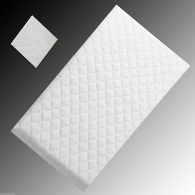 Travel Cot Mattress 65 x 95cm Quilted Zip Cover 7cm for Graco, Mamas & Papas