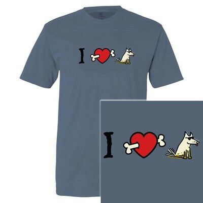 Teddy The Dog I Heart Dogs T Shirt Blue Small New Nwt