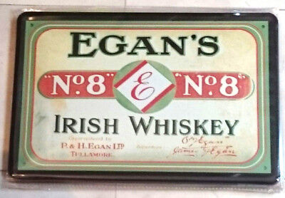 Blechschild 20x30 Egan´s Irish Whiskey Werbung Alkohol logo Bar Metall Schild