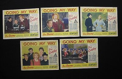 GOING MY WAY 1944  5 x Original US lobby cards Bing Crosby Rise Stevens musical
