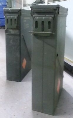 US Surplus 81mm M821A2 Steel Ammo Can LOT OF 2  Airtight 23x14x6 FREE SHIPPING