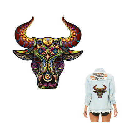 Stickers Heat Transfer DIY Accessory Clothes Patches Cat Horse Bull Animal Patch