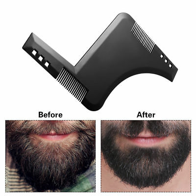Gentlemen Style Beard Trim Template Men Modelling Tools Shaping Hairbrush Comb