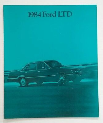 Vintage 1984 Ford LTD 16 Page Car Auto Sales Brochure Free Shipping