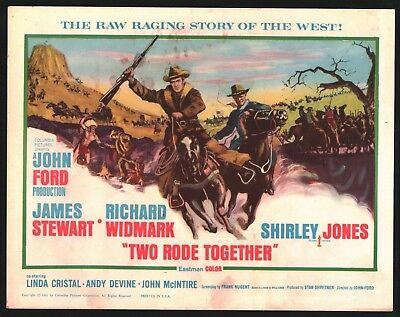 TWO RODE TOGETHER Title Lobby Card (Fair) 1961 James Stewart 15257