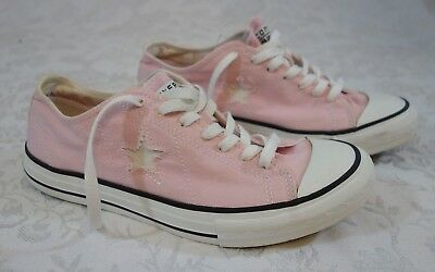 Converse One Star Women's Pink Canvas Low Top Sneakers Size 9.5