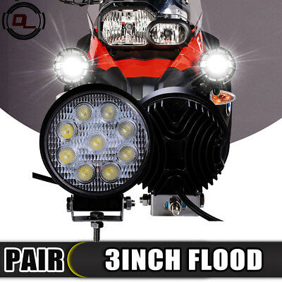 "3inch 4"" LED Work Light Projector Fog Lamp For BWM F650GS F800GS F7500GS R1200GS"