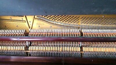 PIANO - MOREL make (American), Upright with steel back frame. Good condition.