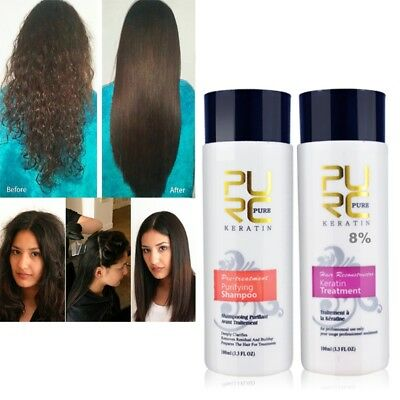 8% formaldehyde keratin and purifying shampoo set straightening hair treatment