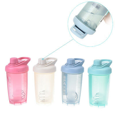 1pc protein shaker bottle with mixball  fitness gym water bottle fitness mixerST