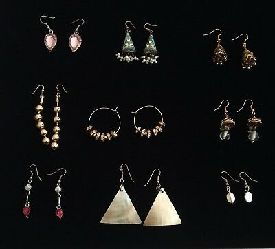Wholesale Lot of 9 pairs Bulk Jewellery Lots Mix Dangle Earrings Jhumka
