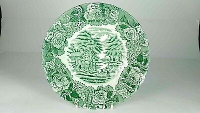 Enoch Wedgwood English Scenery Green & White Bowl