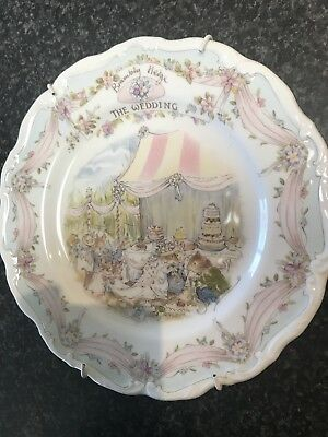 Brambly Hedge Collectors Edition Plate