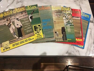 World Of Cricket Monthly Magazines 1975, 7 Different - Very Good Condition
