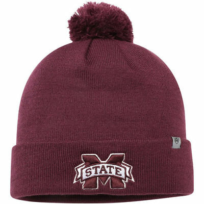9be35ea08e2 Top of the World Mississippi State Bulldogs Maroon Simple Cuffed Knit Hat  with