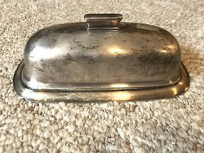 Vintage Reed & Barton Silverplate Butter Dish 1142
