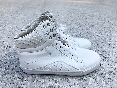 White Used Pastry Size Tart Women's High Top Barely Pop 8 Dance Shoes Sneakers CrexoBd