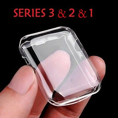 Apple Watch Series 4 3 2 1 Clear Protective Case Cover For iWatch 38/42/40/44mm