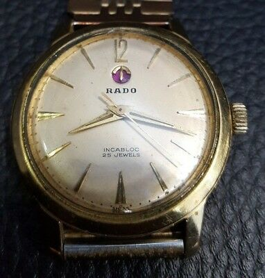Rado Incabloc 25 Jewels Uhr Mechanisch