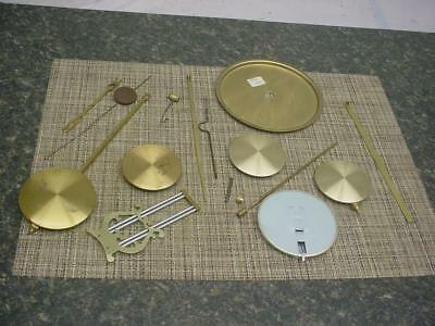 Huge Lot of Clockmaker Mantle Wall Clock Pendulums Bobs Parts SteamPunk  D149