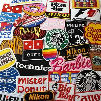 Great Brand LOGO PATCHES - Embroidered Iron On Patch Collection - You Choose!