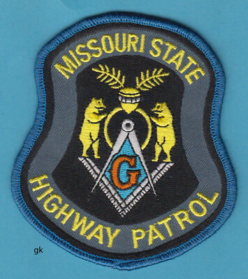 Missouri State Highway Patrol  Mason Masonic   Police Shoulder Patch