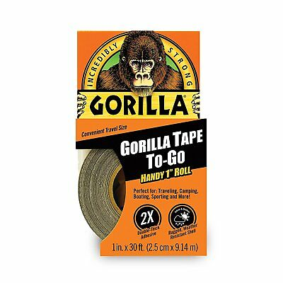 "Gorilla Glue 6100101 Duct Tape To-Go, 1"" x 30 ft, Black"