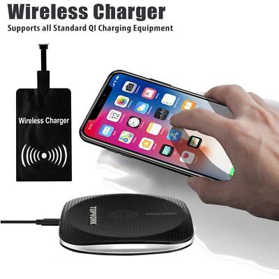 CLEAR QI WIRELESS Fast Charger Dock Charging Pad+Receiver For LG G7/ G6/  V30/V20