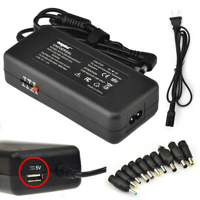 90W Universal Laptop Charger AC Adapter Power Supply for HP Dell + Power Cord