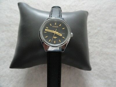 Vintage Citizen Automatic Mechanical Ladies Water Resistant Watch - Leather Band