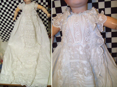 19thC Antique French White Lace Child's / Infant's / Doll's Dress Christening~~~