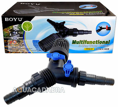 Boyu 3 Way Y Piece Fish Pond Flow Control Tap Pond Hose Hosing Regulator