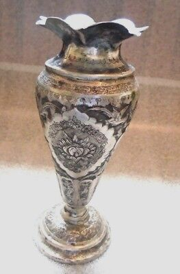 fine antique Persian sterling silver vase