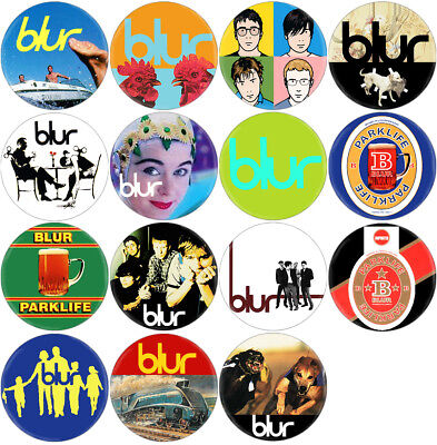 Blur - Lot of 15 badges (spille,buttons, Nirvana, Oasis, White Stripes)