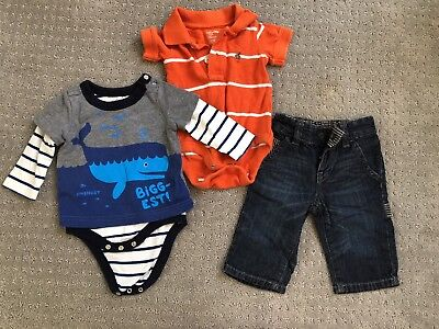 Baby Gap Boys 3- 6 Month Lot Tops Jeans