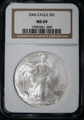 2006 NGC MS69 American Silver Eagle Item#M3337