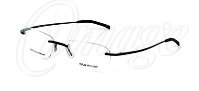 d0f49f0cb2 New TAG Heuer 4101 002 Rimless Silver Pewter Eyeglasses 55-16 Frames Rxable