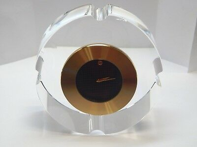 """Movado TCL000109M Gold-Tone Stainless Steel Mini Quartz Clock in Crystal 