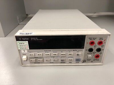 Hp Agilent Keysight 34401A 6.5 Digit Digital Multimeter Gpib Rs-232 ~ Calibrated