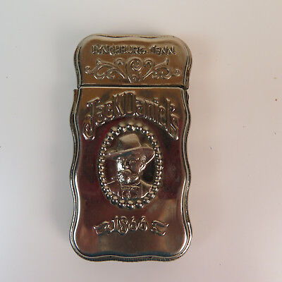Vintage Jack Daniels Metal Matchbox - Made in Italy