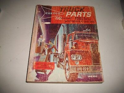 1961 Dodge+Fargo Trucks Illustrated Master Parts Catalog  2+4 Wheel Drive Clean