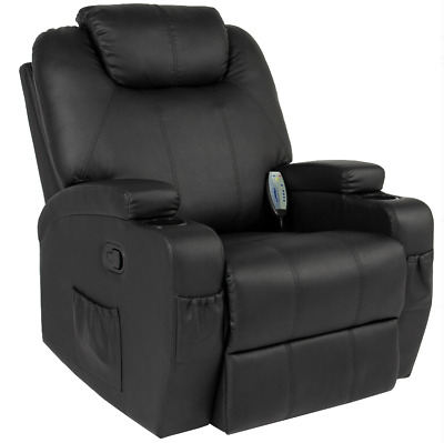 Electric Massage Swivel Recliner Chair Recliner w/ 5 Heat Modes and Foot Rest