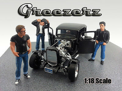 NEW FIGURINES-Set of 3 - Greezerz - 1/18 scale figure - AMERICAN DIORAMA