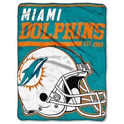 "The Northwest Company Miami Dolphins 46"" x 60"" 40-Yard Dash Micro Raschel"