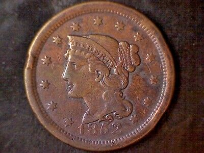 1852 Braided Hair Large Cent - Beautiful!