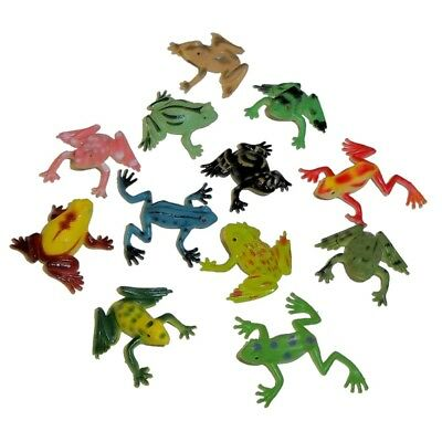 24-pack Realistic Assorted Mini Vinyl Frogs