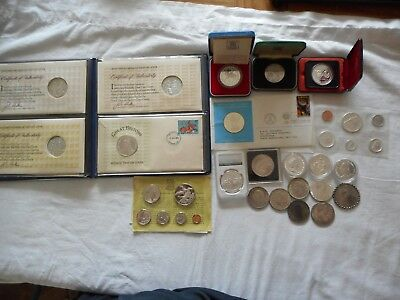 16 x Silver coins medals SOLD AS SILVER ONLY - READ BELOW  497g PURE - lot # 19