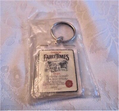 """Original EARLY TIMES Key Fob - New Old Stock, Sealed Package - 1.75"""" x 1.5"""""""