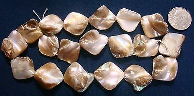 Natural baroque freshwater mabe pearl shell nugget beads 15 Inch strand  bs011